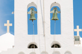 Steeple  Bells  Crosses  Island Sifnos  the Cyclades  Greece