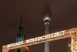 Germany  Berlin  Dusk  Alexanderplatz  Christmas Market