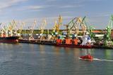 Lithuania  Klaipeda (Memel)  Harbour  Cranes