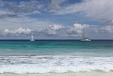 The Seychelles  La Digue  Anse Coco  Two Catamaran Yachtsmen
