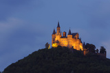 Germany  Baden-Wurttemberg  Castle Hohenzollern  Lighting  Evening