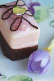Dessert  Petit Four with Blossom