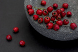 Still Life  Berries  Red  Bowl  Grey  Black  Still Life