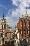 Latvia  Hanseatic Town Riga  House of the Blackheads  Saint Roland