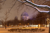 Germany  Berlin  View on Berlin Cathedral  Night  Snow