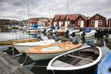 Sweden  BohuslŠn  Fishing Settlement RšnnŠng  Harbour  Boats  Houses