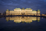 Austria  Vienna  Palace Belvedere  Outside-Facade  Panorama  Evening-Mood
