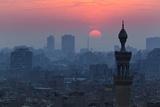 Egypt  Cairo  Al Azhar Park  Sultan Hasan Mosque  Back Light