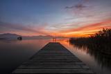 Germany  Bavaria  Lake Chiemsee  Sunset with Stšttham