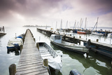 Boats  Jetties  Chiemsee  Fraueninsel  Morning Fog  Stormy Atmosphere