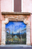 France  Provence  Roussillon  House Facade  Wooden Gate  Painted