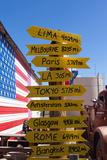 USA  Arizona  Historical Route 66  Seligman  Signpost