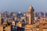 Egypt  Cairo  Al Azhar Park Cairo  Mosque-Madrassa of Sultan Hassan in Backlight