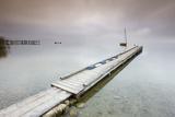 Jetty  Lake  Morning Fog  Stormy Atmosphere