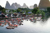 China  Yulong River with Karst Mountains  Tourism  Raft River Journeys