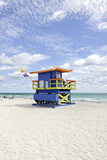 Beach Lifeguard Tower '35 St'  Atlantic Ocean  Miami South Beach  Florida  Usa