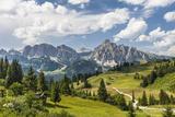 Alp Close Corvara  'Puezgruppe' (Mountain Range) Behind  the Dolomites  South Tyrol  Italy  Europe