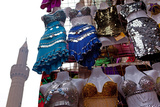 Egypt  Cairo  Islamic Old Town  Clothes Market and Minaret