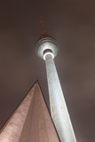 Germany  Berlin  Television Tower  Night  Winter