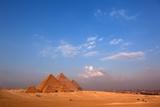 Egypt  Cairo  Pyramids of Giza  Evening Light