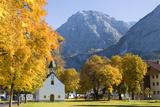 Austria  Tyrol  Ehrwald  Townscape  Chapel  Autumn