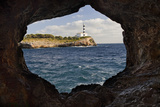 Spain  Mallorca  East Coast  Lighthouse of Portocolom  Punta De S'Homonet  Rock Hole