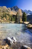 Austria  Tyrol  Mountain Landscape  Berglisee  Frozen  Autumn