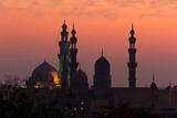Egypt  Cairo  Mosque-Madrassa of Sultan Hassan in Backlight