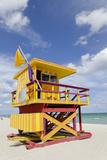 Beach Lifeguard Tower '3 Sts'  Atlantic Ocean  Miami South Beach  Art Deco District  Florida  Usa