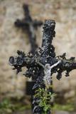 France  Basse-Normandy  Manche  Cemetery of the Abbey Mont-Saint-Michel  Crucifix