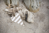 Heart  Tag  Wood  Beach  Symbol  Love
