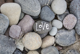 Stones  Pebble Stone with Lettering Love