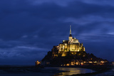 France  Lower Normandy  Manche  Mont Saint Michel by Night