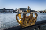 Skeppsholmsbron Bridge  Crown  Gilded  View on Stockholm Castle