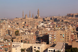 Egypt  Cairo  View from Mosque of Ibn Tulun to the Mosque-Madrassa of Sultan Hassan
