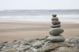 Stone Tower  Balance  Pebble Stones  Beach