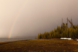 USA  Yellowstone National Park  Yellowstone Lake  Rainbow