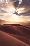 USA  America  Death Valley  Eureka Sand Dunes  Dunes  Sand  Desert  Light  Back Light  Rays