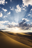 USA  America  California  Desert  Death Valley  Dunes  Sand  Light  Back Light  Rays