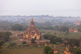 Aerial View of Ancient Temples (More Than 2200 Temples) of Bagan at Sunrise in Myanmar