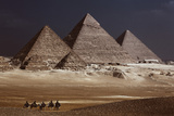Egypt  Cairo  Pyramids of Gizeh by Night