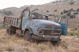 Greece  Crete  Chandras Plateau  Rusted Truck
