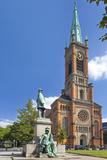 Germany  North Rhine-Westphalia  Dusseldorf  Martin Luther Square  St John's Church