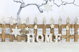 Christmas Decoration and Decoration Fence with Word Home