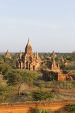 Sunset over Temples of Bagan  Myanmar
