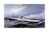Steamship Seneca in Rough Seas
