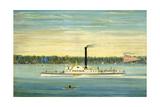 Side-Wheel Steamboat Trojan