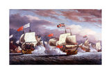 Naval Battle from the Eighteenth Century