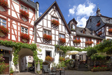 Half-Timbered Houses  City Centre  Beilstein  Moselle River  Rhineland-Palatinate  Germany