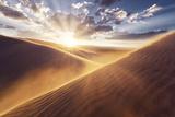 USA  America  Death Valley  Eureka Sand Dunes  Sand  Dunes  Sunset  Wind  Mood  Dramatical